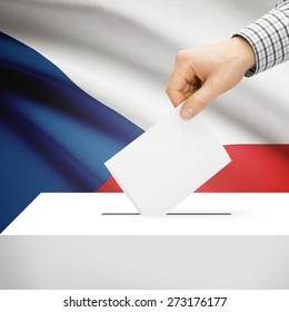 Ballot box with national flag on background series - Czech Republic