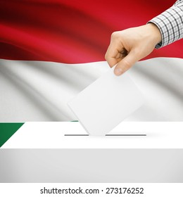 Ballot box with national flag on background series - Hungary