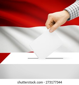 Ballot box with national flag on background series - Austria
