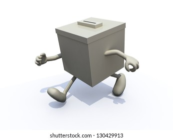 ballot box that runs away, concept abstention