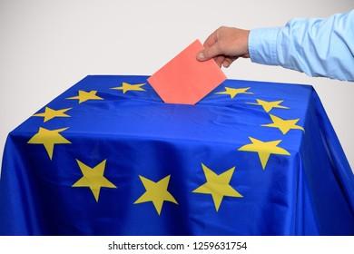 Ballot is put in the ballot box