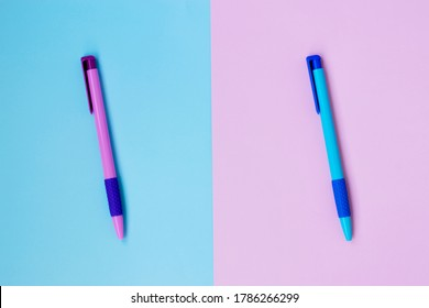 Ballpoint pens. Stationery for office, school. Subjects for study. For children, schoolchildren, students.