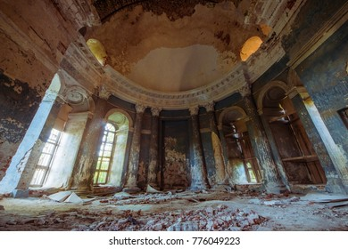 The ballroom of an abandoned palace. Torzhok. Tver. Moscow.