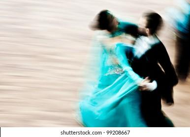 Ballroom dance in motion