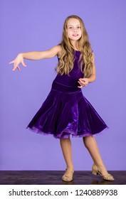 Girl Cute Child Wear Velvet Violet Stock Photo Edit Now 1244203030