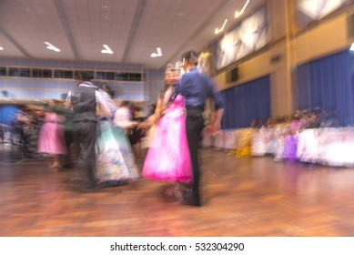 Ballroom dancing blur motion