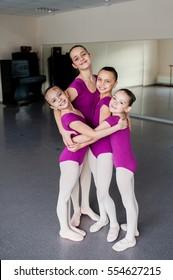 Ballroom dancing lesson, happy kids