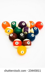 balls for game in billiards costing in the form of a triangle