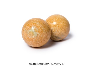 balls made of onyx on a white background