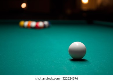 Balls on the table for pool or pocket billiards