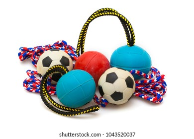 balls for pets isolated on white background