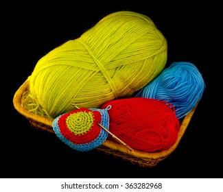 Balls of yarn