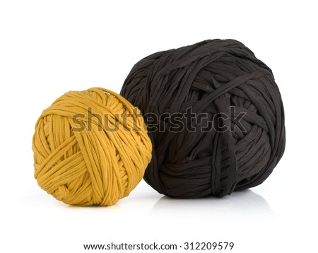 Balls of yarn from T-shirts.