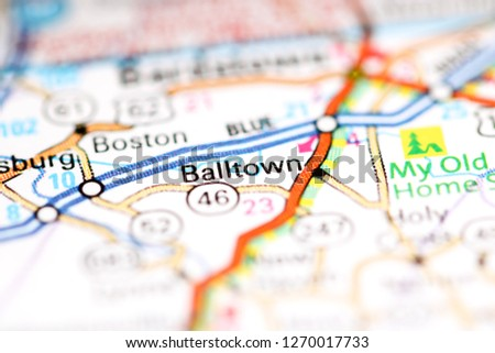 Geography Map Of Ohio.Balltown Ohio Usa On Geography Map Stock Photo Edit Now 1270017733