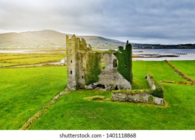 Ballycarbery Castle On The Ring of Kerry,  Near Cahersiveen, County Kerry, Ireland