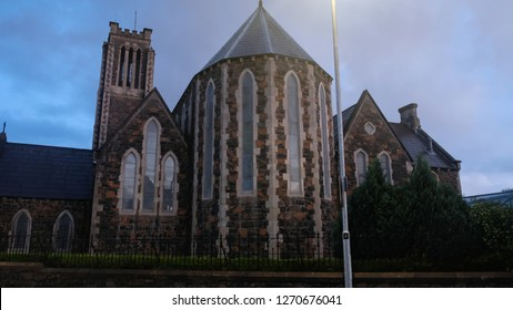 Ballymena, Northern Ireland: 23/08/2018; A view of Church  at Ballymena town early in the morning,during late summer, Northern Ireland.