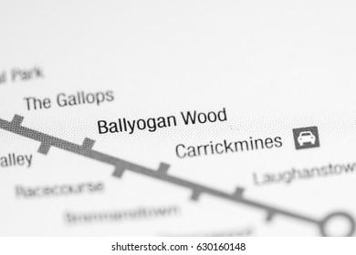 Ballyogan Wood Station. Dublin Metro map.