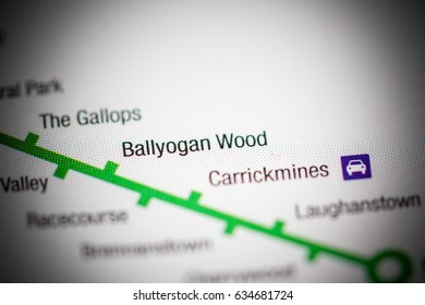 Ballyogan Wood Station. Dublin Metro map.