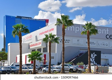 Bally's Employment Center. Las Vegas NV, USA 10-03-18. The center receives employment applications for Caesars, The Cromwell, Planet Hollywood, The LINQ and other casinos on the Strip