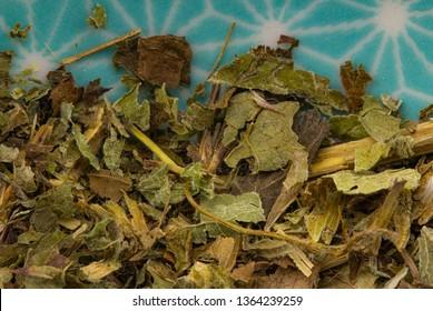balm herb detail background healing herbs