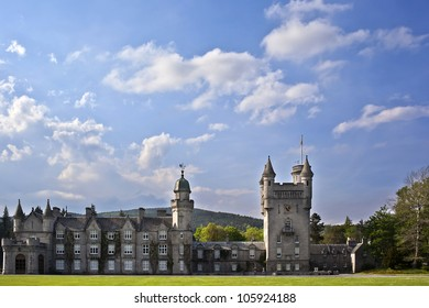 Balmoral castle , holiday home of British royalty,  Scotland