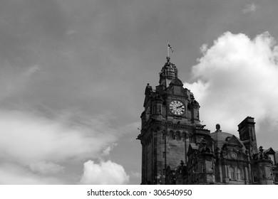 The Balmoral Clock in Edinburgh - Scotland