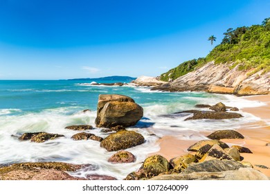 Balneario Camboriu, Santa Catarina, Brazil. Estaleirinho Beach. Beach in the southern region of Brazil.