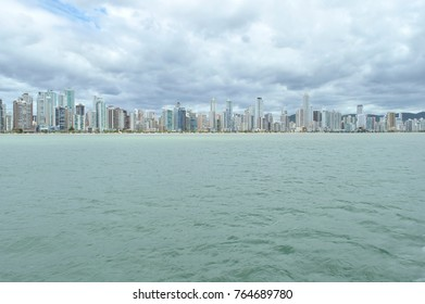 Balneario Camboriu, SC/ Brazil cityscape seen from the sea