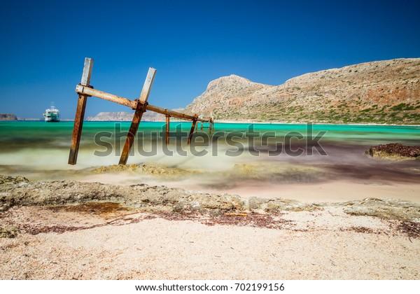 Balos Bay in Crete, Greece