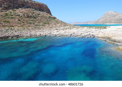 Balos bay. Crete island. Greece.