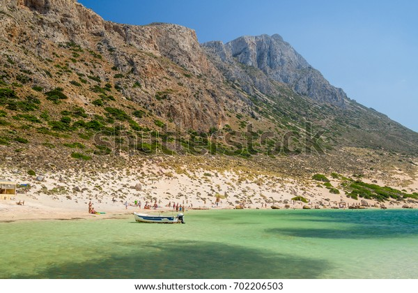 Balos Bay on Crete, Greece