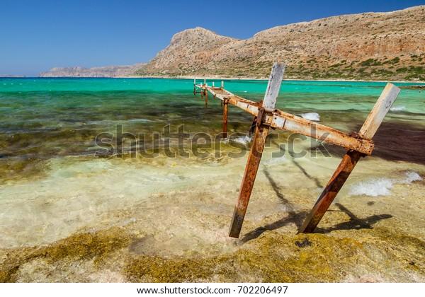 Balos Beach Bay on Crete, Greece