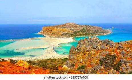 Balos Lagoon in Crete Greece