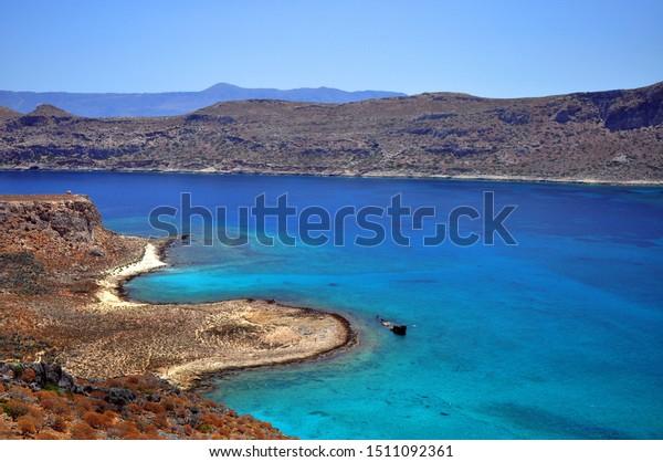 Balos Lagoon On Crete Island Greece Stock Photo Edit Now