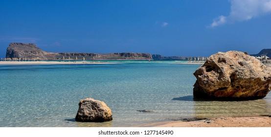 Balos, paradise beach on Crete Island