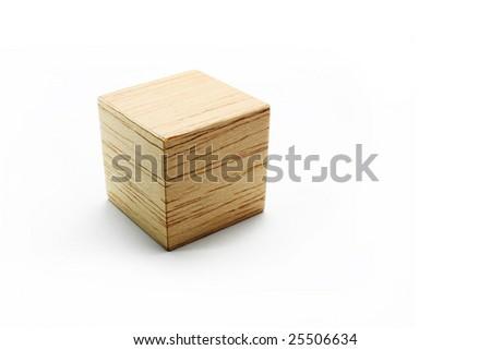 Balsa Wood Cube On White Background Stock Photo (Edit Now