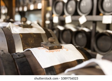 balsamic vinegar barrels storing and aging