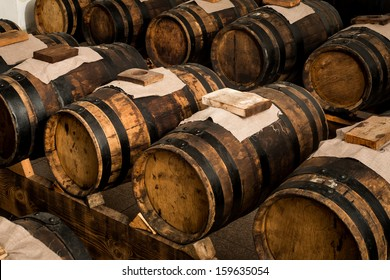 balsamic vinegar barrels for storing and aging