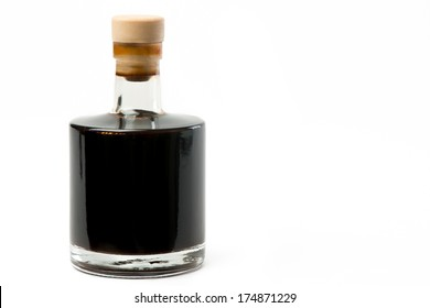 balsamic vinegar bottle isolated on white