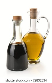 balsamic vinegar and olive oil in a glass