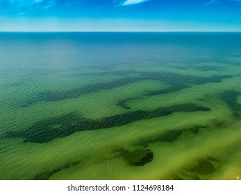 Baltic sea, from above. View to the water and sky.