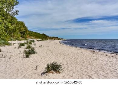 Baltic sea beach on the souther coast of Bornholm island, Denmark
