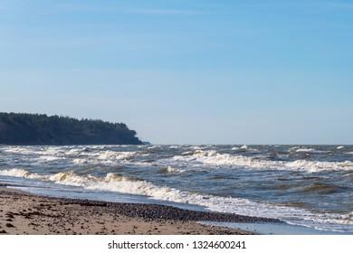Baltic sea coast at Jurkalne, Latvia.