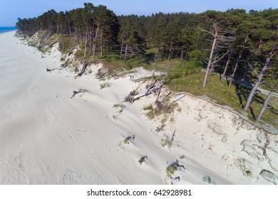 Baltic sea coast near Liepaja, Latvia.
