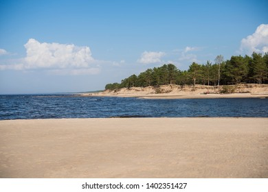 Baltic sea coast. Sunny summer day. Latvia. River called Gauja
