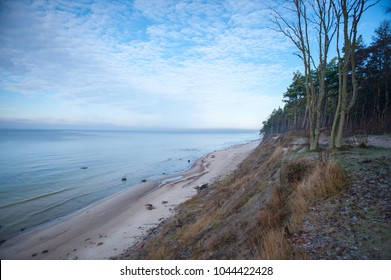 Baltic Sea Coastline-Seaside in Karkle, Dutch Hat, Lithuania. The Baltic Sea is a sea of the Atlantic Ocean, enclosed by Scandinavia, Finland, the Baltic countries, and the North European Plain.