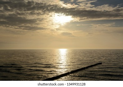 baltic sea in the evening