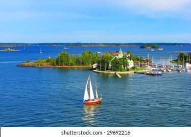 Baltic sea in Helsinki, Finland