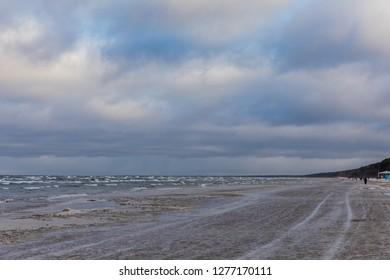 Baltic sea Latvia. Jurmala. Coast.