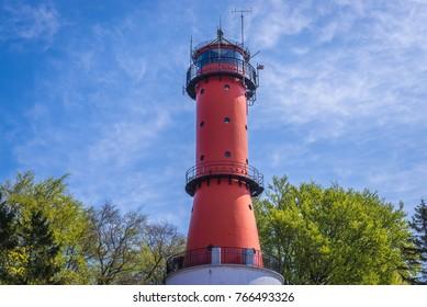 Baltic Sea lighthouse in Rozewie village, Poland
